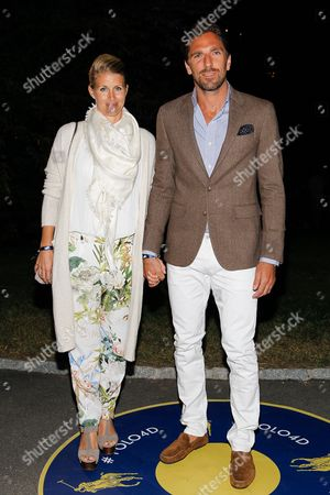 Therese Andersson and hockey player Henrik Lundqvist; seen at MBFW Spring/Summer 2015 - Ralph Lauren Polo 4D fashion show at Central Park, in New York