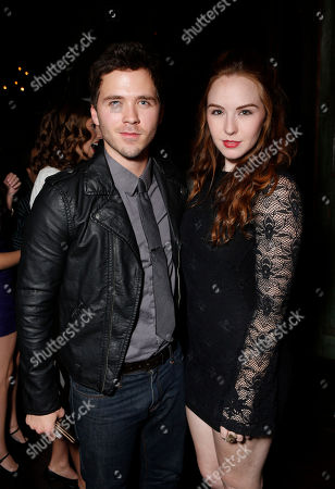 Stephen Lunsford and Camryn Grimes attend a surprise birthday party for MTV Teen Wolf's Stephen Lunsford presented by Monster Energy Drinks on in Los Angeles, CA