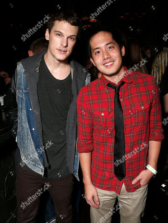 Grant Harvey and Allen Evangelista attend a surprise birthday party for MTV Teen Wolf's Stephen Lunsford presented by Monster Energy Drinks on in Los Angeles, CA
