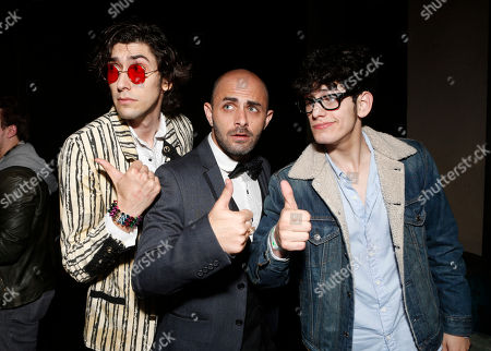 Max Landis, Matt Cohen and Matt Bennett attend a surprise birthday party for MTV Teen Wolf's Stephen Lunsford presented by Monster Energy Drinks on in Los Angeles, CA