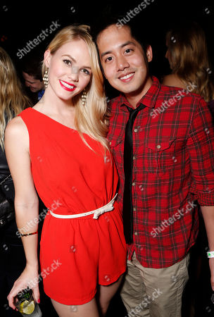 Christina Burhoe and Allen Evangelista attend a surprise birthday party for MTV Teen Wolf's Stephen Lunsford presented by Monster Energy Drinks on in Los Angeles, CA