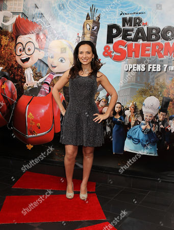 Leila Birch attends the Mr Peabody And Sherman 3D - VIP gala screening at the Vue,West End,Leicester Square in London on Saturday 1 Feb, 2014