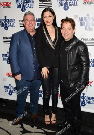 Elvis Duran, left, Jessie J and Charlie Walk attend Musicians On Call 15th Anniversary at Espace, in New York