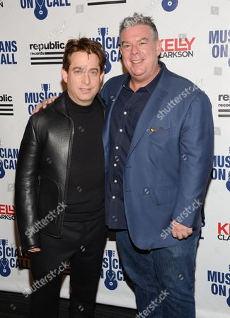 Republic Records executive vice president Charlie Walk, left, and Elvis Duran attend Musicians On Call 15th Anniversary at Espace, in New York