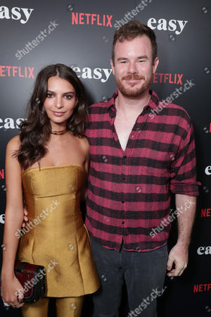 """Emily Ratajkowski and Director Joe Swanberg seen at Netflix cast and crew screening of new original series """"EASY"""" at London West Hollywood, in West Hollywood, CA"""