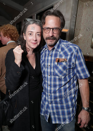 "Jane Adams and Marc Maron seen at Netflix cast and crew after-party screening of new original series ""EASY"" at London West Hollywood, in West Hollywood, CA"
