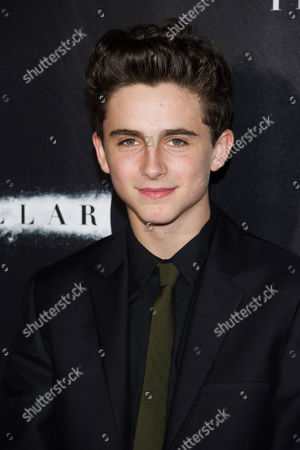 """Stock Picture of Thimothee Chalamet attends the """"Interstellar"""" premiere on in New York"""