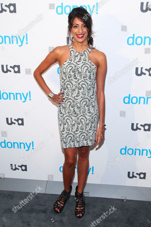 """Meera Rohit Kumbhani attends the premiere of the USA Network scripted comedy series """"Donny!"""" at The Rainbow Room, in New York"""