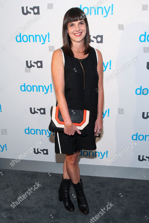 "Angie Day attends the premiere of the USA Network scripted comedy series ""Donny!"" at The Rainbow Room, in New York"