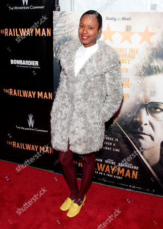 "Shala Monroque attends the New York premiere of ""The Railway Man"", in New York"