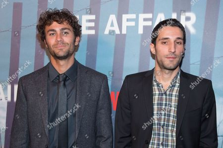 Danny Fischer (R) and Michael Godere attend the series premiere of SHOWTIME's drama 'The Affair' at the North River Lobster Company, in New York
