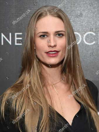 """Stock Photo of Model Julie Henderson attends a special screening of """"Miss Sloane"""", hosted by The Cinema Society and Piaget, at the SAG-AFTRA Foundation, in New York"""