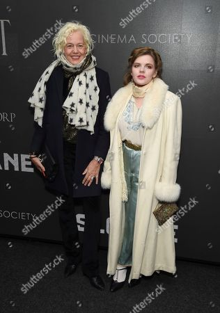 """Stock Photo of Photogrpaher Ellen von Unwerth and Syrie Moskowitz attend a special screening of """"Miss Sloane"""", hosted by The Cinema Society and Piaget, at the SAG-AFTRA Foundation, in New York"""