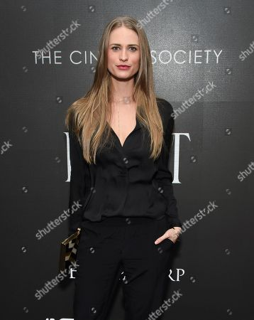 """Stock Picture of Model Julie Henderson attends a special screening of """"Miss Sloane"""", hosted by The Cinema Society and Piaget, at the SAG-AFTRA Foundation, in New York"""