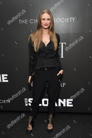 """Model Julie Henderson attends a special screening of """"Miss Sloane"""", hosted by The Cinema Society and Piaget, at the SAG-AFTRA Foundation, in New York"""