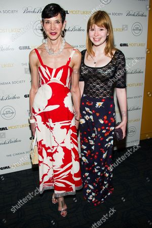 "Amy Fine Collins, left, and Flora Collins attend a screening of Lionsgate & Roadside Attractions' ""Girl Most Likely"" hosted by the Cinema Society & Brooks Brothers on in New York"