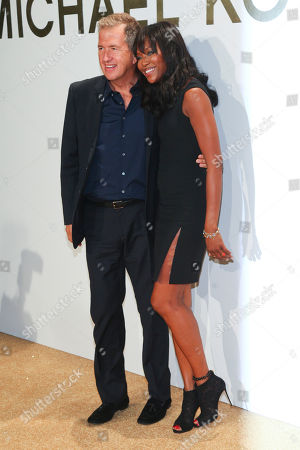Stock Photo of Vladimir Doronin, left, and Naomi Campbell, right, attend the New York Fashion Week Spring/Summer 2016 Michael Kors Gold Collection Fragrance Launch at The Top of the Standard, in New York