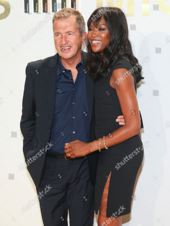 Stock Picture of Vladimir Doronin, left, and Naomi Campbell, right, attend the New York Fashion Week Spring/Summer 2016 Michael Kors Gold Collection Fragrance Launch at The Top of the Standard, in New York
