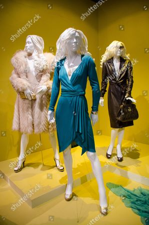 """Oscar nominated costumes for """"American Hustle,"""" by costume designer Michael Wilkinson are on display at the 22nd annual Art of Motion Picture Costume Design Exhibit, in Los Angeles, Calif. The Fashion Institute of Design & Merchandising holds its free-to-the-public Art of Motion Picture Costume Design exhibit on view until April 26, 2014, featuring this year's five Oscar nominees: """"American Hustle,"""" """"The Grandmaster,"""" """"The Great Gatsby,"""" """"The Invisible Woman"""" and """"12 Years A Slave,"""" in Los Angeles"""
