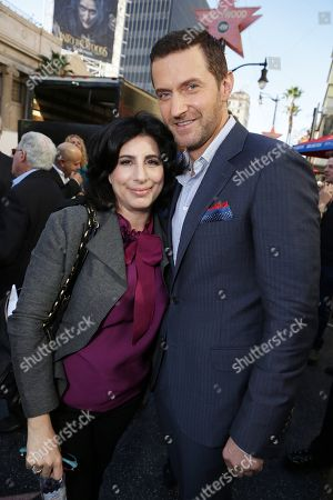 President, Worldwide Marketing and International Distribution, Warner Bros. Pictures - Sue Kroll and Richard Armitage seen at a ceremony honoring Peter Jackson with a star on The Hollywood Walk Of Fame, in Los Angeles, CA