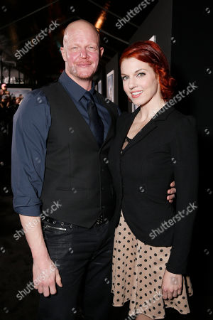 """Derek Mears and guest arrive at the premiere of """"Hansel & Gretel Witch Hunters"""", in Los Angeles"""