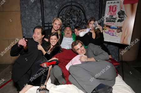 Producer Harry Basil, Jamie Renee Smith, Molly McCook, Writer/Director/Producer Leslie Greif, Lucila Sola, Camilla Morrone and Reid Ewing attend the after party for the premiere of Screen Media Films' '10 Rules For Sleeping Around' at the Egyptian Theatre on in Hollywood, California