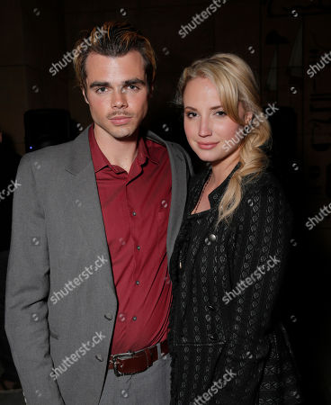 Reid Ewing and Molly McCook attend the after party for the premiere of Screen Media Films' '10 Rules For Sleeping Around' at the Egyptian Theatre on in Hollywood, California