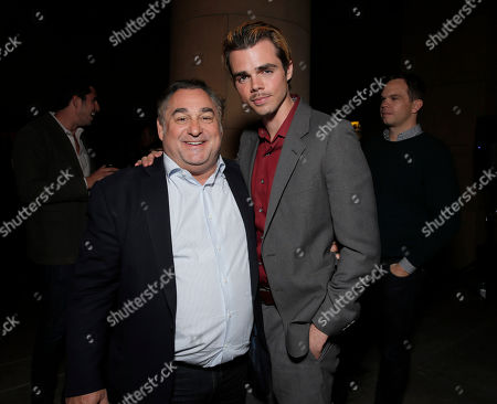 Writer/Director/Producer Leslie Greif and Reid Ewing attend the after party for the premiere of Screen Media Films' '10 Rules For Sleeping Around' at the Egyptian Theatre on in Hollywood, California