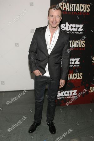 """Actor Todd Lasance attends the """"Spartacus: War of the Damned"""" premiere, at the Musuem of Modern Art on in New York"""