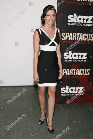 "Stock Image of Model Kerryn Amyes attends the ""Spartacus: War of the Damned"" premiere, at the Musuem of Modern Art on in New York"