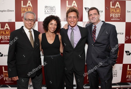 """LAFF Artistic Director David Ansen, Los Angeles Film Festival Director Stephanie Allain and Film Independent co-presidents Sean McManus and Josh Welsh attend the premiere of """"To Rome With Love"""" at Regal Cinemas L.A. LIVE on in Los Angeles"""