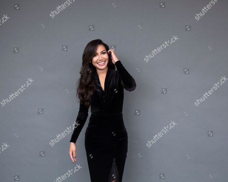 """Stock Picture of Actress Naya Rivera poses for a portrait in New York. The """"Glee"""" actress addresses her breakups, and events surrounding co-stars Mark Salling, Cory Monteith and Lea Michele in her new book, Sorry Not Sorry: Dreams, Mistakes, and Growing Up, which was released on Sept. 13"""