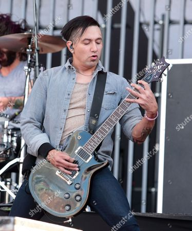 Dave Grahs of the band Pop Evil performs in concert during the Rock Allegiance Festival at PPL Park, in Chester, Pa