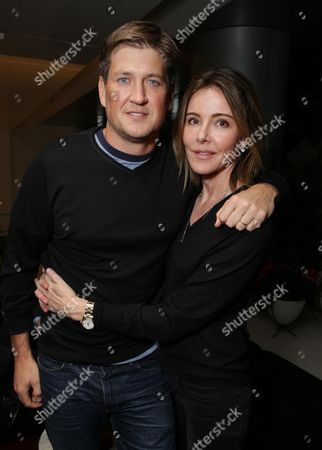 Exclusive- Bill Lawrence and Christa Miller seen at SHOWTIME and CAA Screening of the documentary 'Lost Songs: The Basement Tapes Continued', in Los Angeles, CA