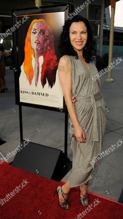 "Xan Cassavetes, writer/director of ""Kiss of the Damned,"" poses at the Los Angeles screening of the film at the ArcLight Hollywood on in Los Angeles"