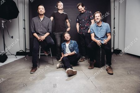 Jerome Fontamillas, from left, Drew Shirley, Jon Foreman, Chad Butler and Tim Foreman Switchfoot pose for a portrait at Savant Studios in Los Angeles