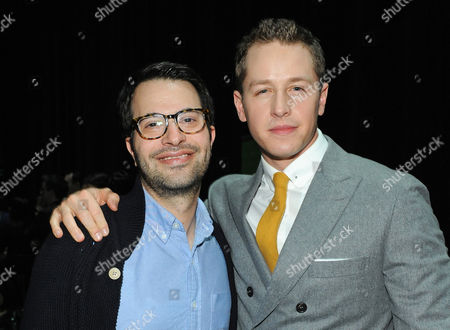 Photo of Edward Kitsis, left, and Josh Dallas courtesy of Samsung Galaxy, taken during the Paley Center for Media's PaleyFest, honoring Once Upon a Time, at the Saban Theatre, in Los Angeles, California