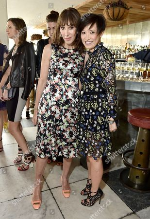 Stock Image of Merle Ginsberg, left, and Sandra Choi, Creative Director, Jimmy Choo, attend The Hollywood Reporter & Jimmy Choo Celebration of the Most Powerful Stylists in Hollywood, in West Hollywood, Calif