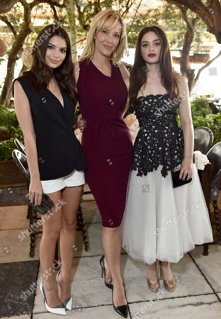 Emily Ratajkowski, from left, Tara Swennen and Odeya Rush attend The Hollywood Reporter & Jimmy Choo Celebration of the Most Powerful Stylists in Hollywood, in West Hollywood, Calif