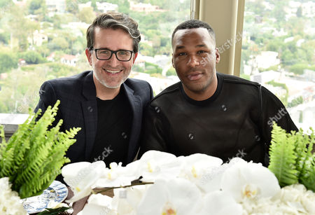 Joseph Cassell, left, and Jason Rembert attend The Hollywood Reporter & Jimmy Choo Celebration of the Most Powerful Stylists in Hollywood, in West Hollywood, Calif