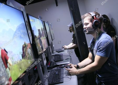IMAGE DISTRIBUTED FOR UBISOFT - Nathan Kress playing Tom Clancy's Ghost Recon Wildlands at Ubisoft E3 2016 - Day 3 at the Los Angeles Convention Center, in Los Angeles