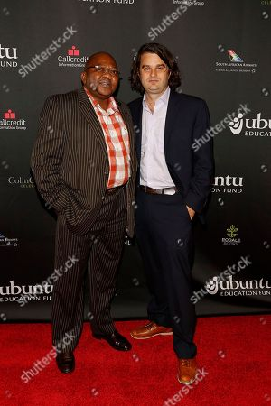 "Ubuntu Co-founder Malizole ""Banks"" Gwaxula and Jacob Lief seen at the Ubuntu Education Fund Gala at Gotham Hall, on in New York"