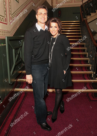 Justin Bower and Natasha Kaplinsky attend the premiere of The Cirque du Soleil new show Quidam, at the Royal Albert Hall,, in London