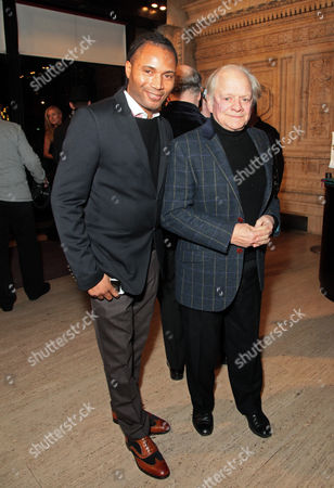 Stock Photo of Adrian Grant and Sir David Jason attend the premiere of The Cirque du Soleil new show Quidam, at the Royal Albert Hall,, in London