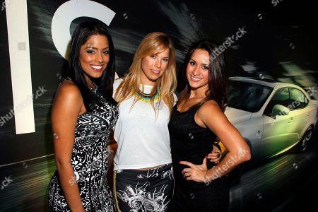 L-R) Marcela Pizarro, Pili Montilla and Melissa Marty attend Vida Lexus and Alegria Magazine Present Sabor De Lujo on at Lure nightclub in Hollywood, Calif