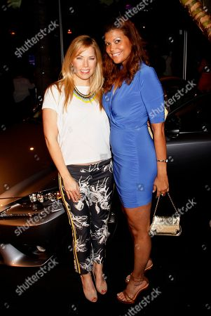 Pili Montilla and Aida Rodriguez attend Vida Lexus and Alegria Magazine Present Sabor De Lujo on at Lure nightclub in Hollywood, Calif