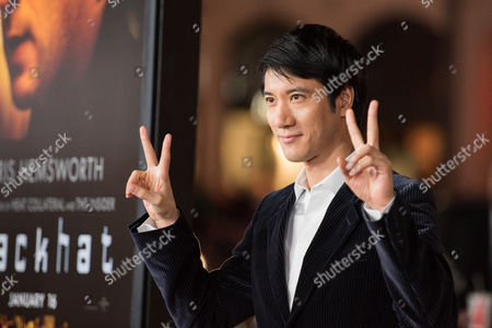Leehom Wang arrives at the world premiere of Blackhat at the TCL Chinese Theatre, in Los Angeles