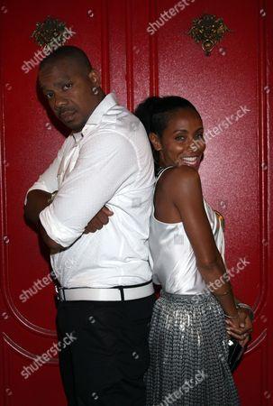 Duane Martin Jada Pinkett Smith (L) dines at Duene Martin's (L) new hot spot Xen Lounge, in Studio City, California