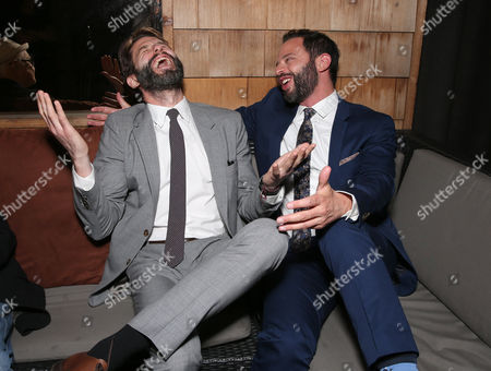 """TWC RADiUS Co-President Jason Janego and Nick Kroll attend the party for """"Adult Beginners"""" LA Premiere, In Partnership with Wood & Vine at Wood & Vine on in Los Angeles"""