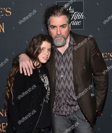 "Kevin Corrigan and daughter attend ""Miss Peregrine's Home for Peculiar Children"" red carpet event at Saks 5th Avenue, in New York"